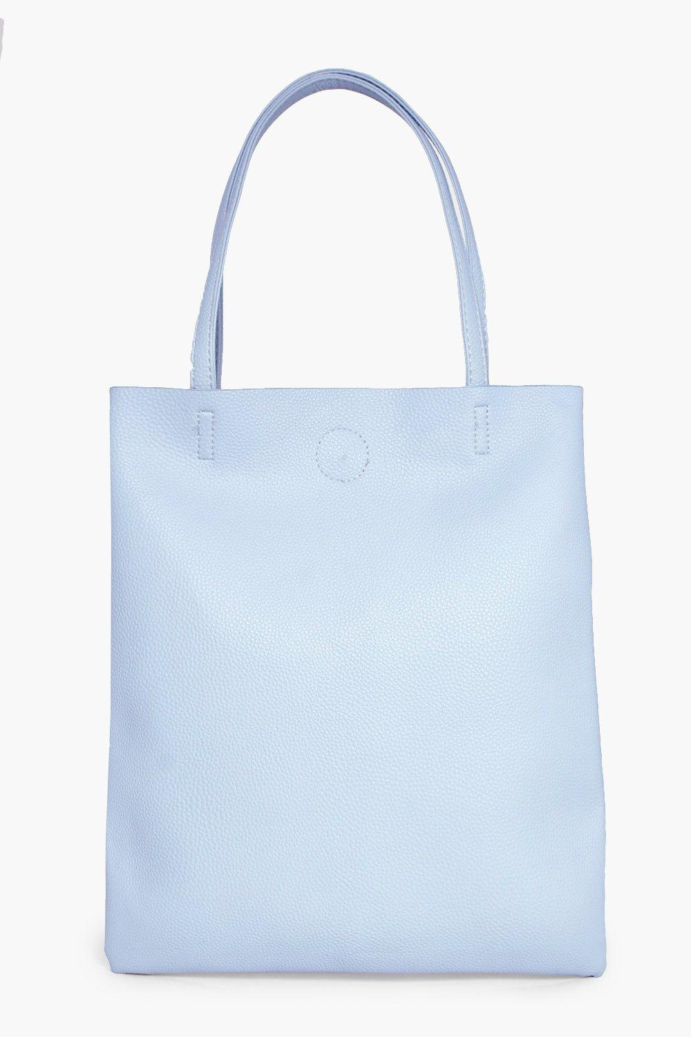 PU Shopper Bag - pale blue - Matilda PU Shopper Ba