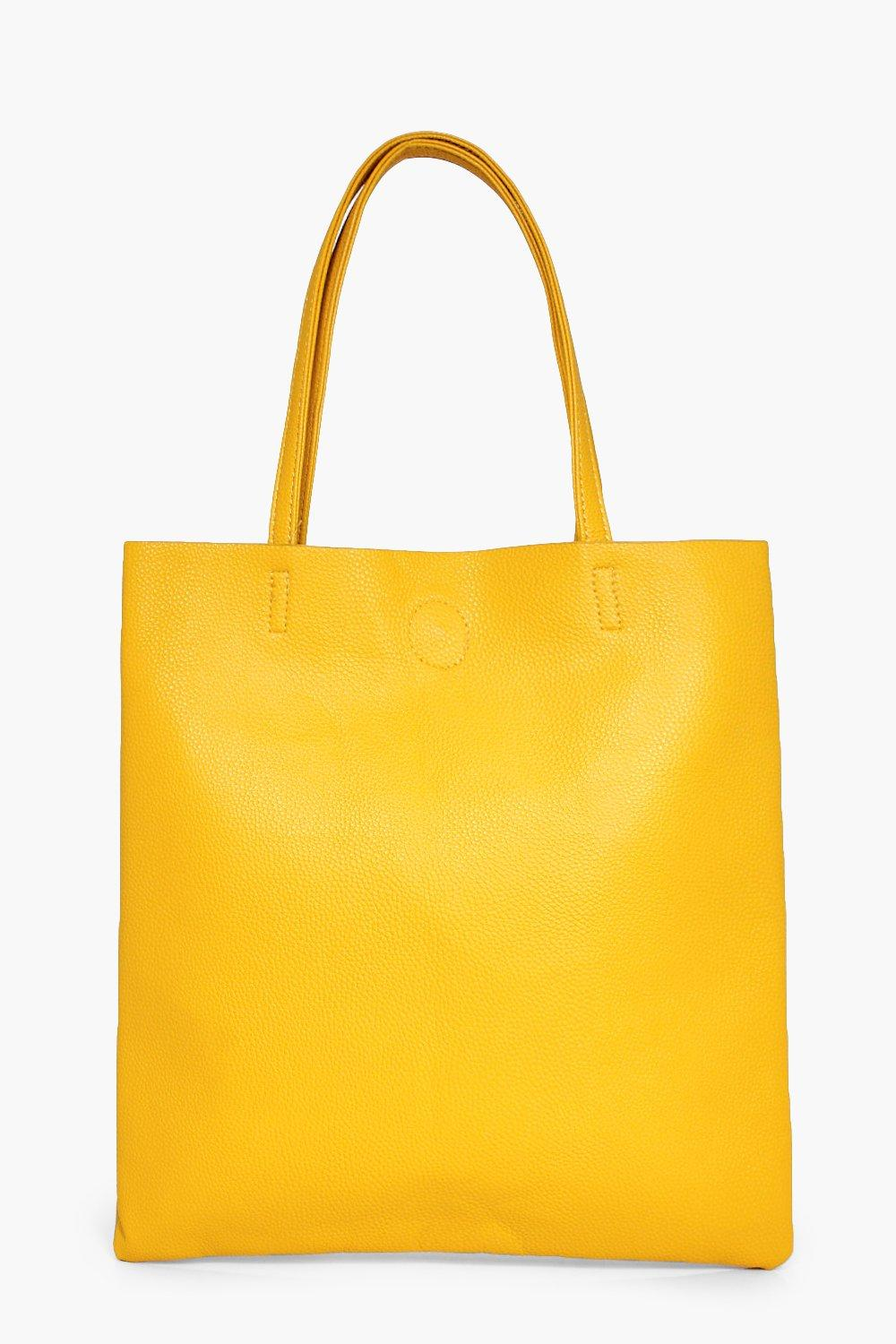 PU Shopper Bag - yellow - Matilda PU Shopper Bag -