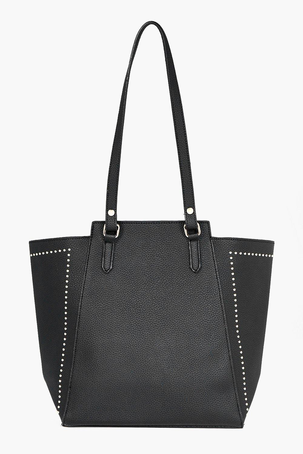 Studded Wing Tote - black - Neve Studded Wing Tote