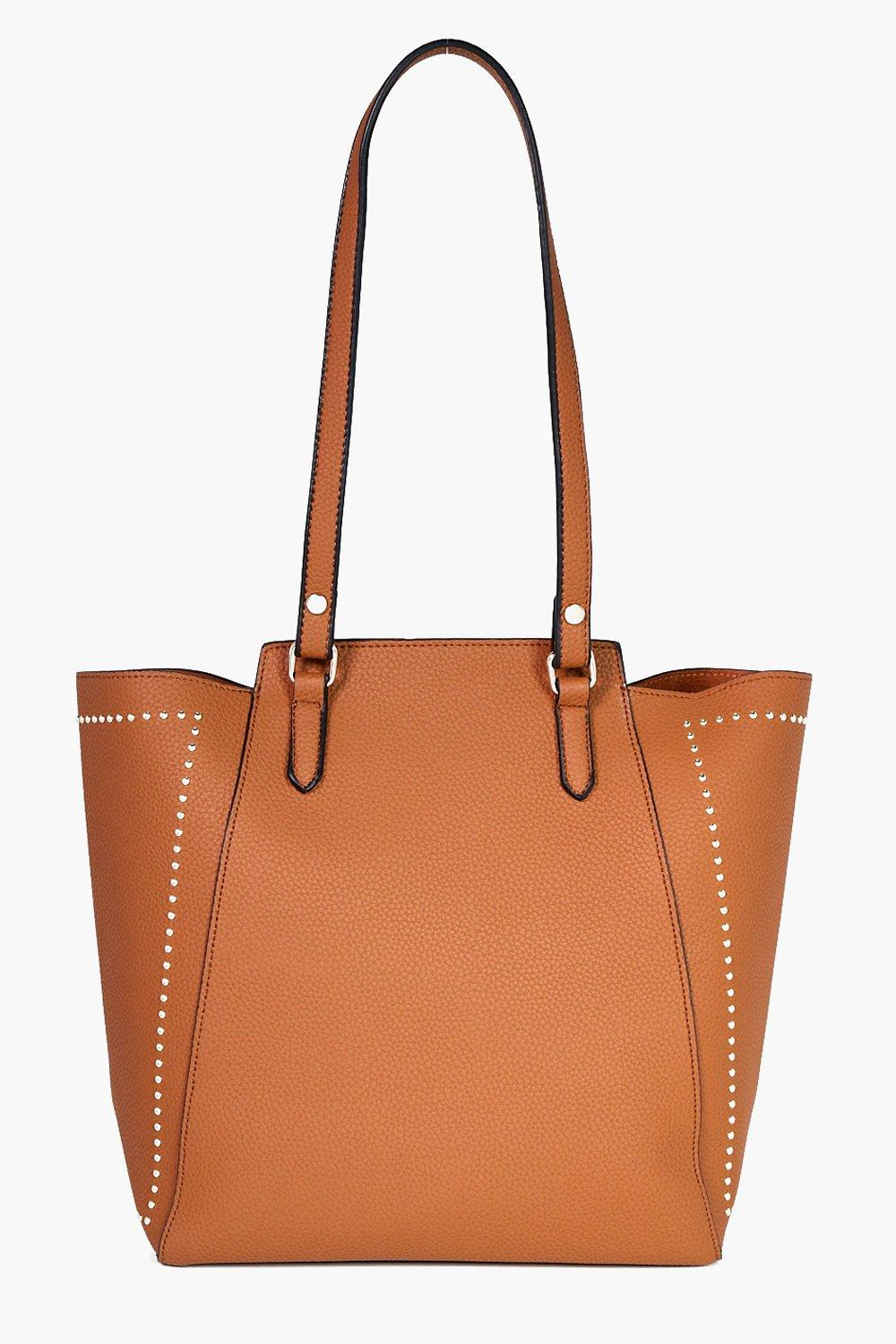 Studded Wing Tote - tan - Neve Studded Wing Tote -