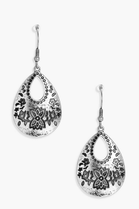 Darcey Engraved Boho Earrings