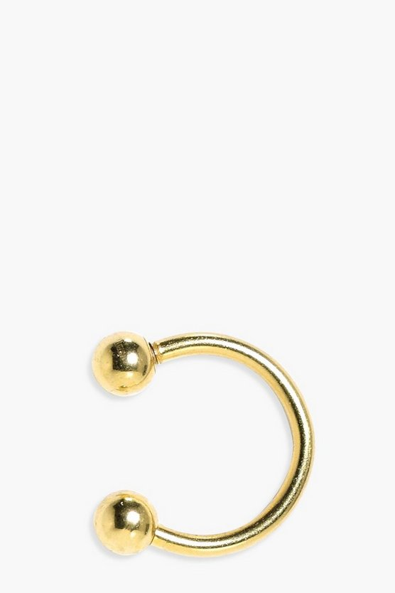 Lois Faux Lip Ring Double Ball