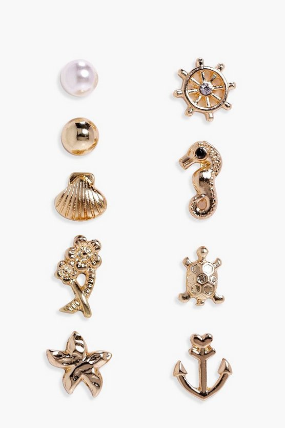 Alisha Assorted Nautical Earring Pack