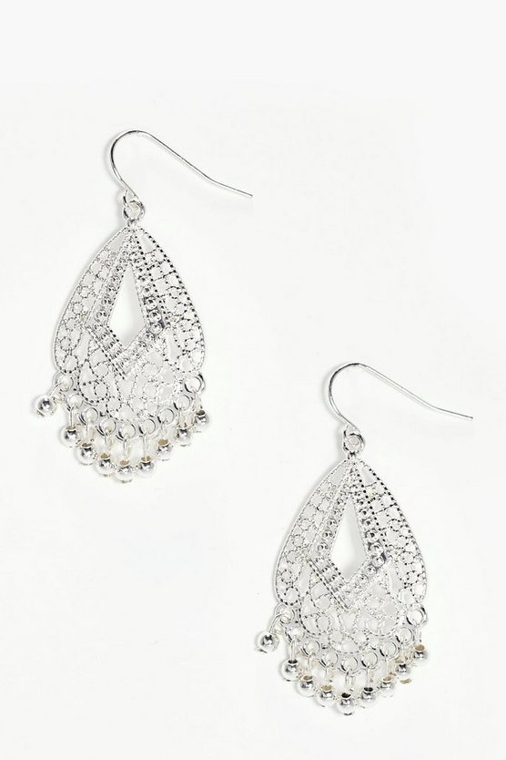 Vanessa Boho Filigree Beaded Earrings