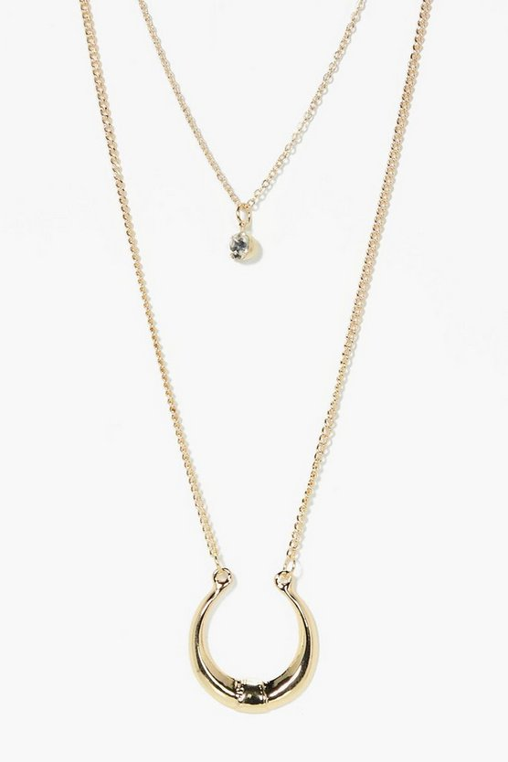 Olivia Layered Horseshoe Necklace