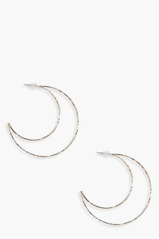 Sadie Half Moon Hoop Earrings