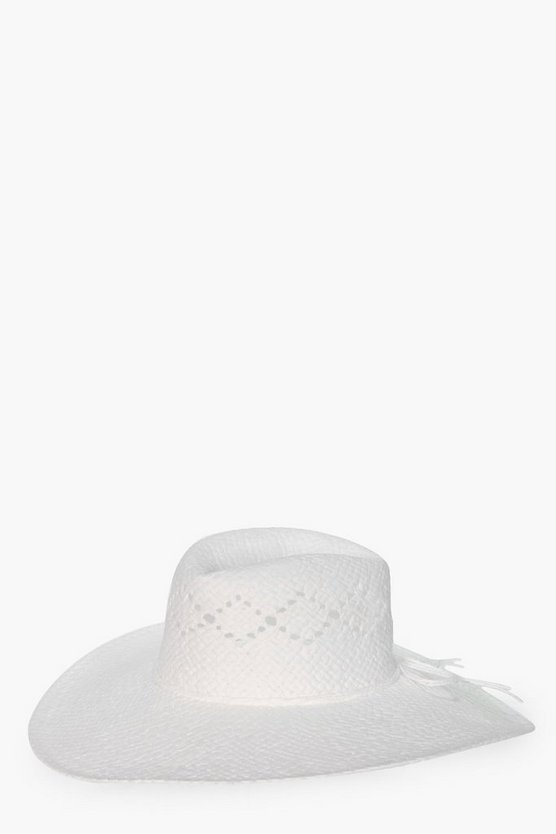 Clara Basic Straw Trim Floppy Hat