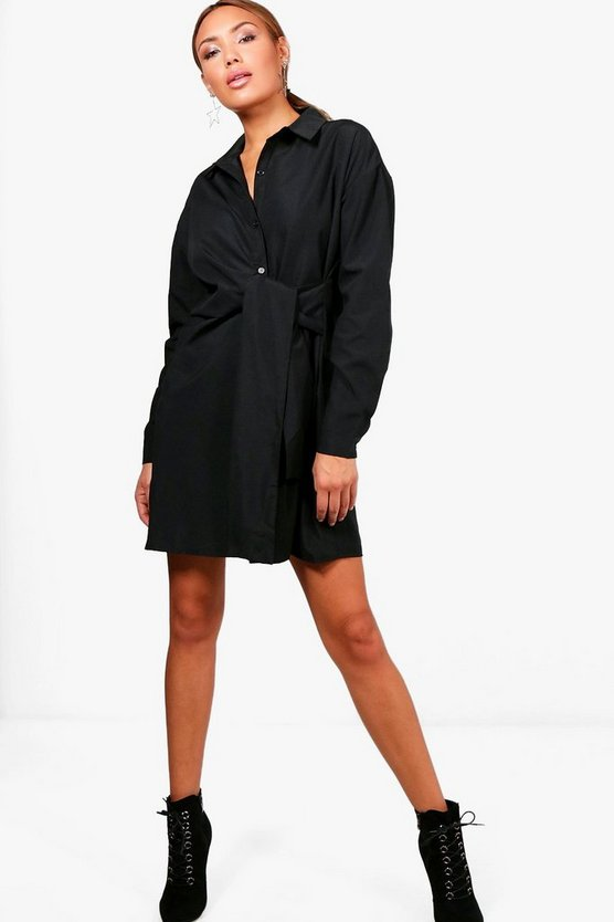 Lola Tie Waist Shirt Dress