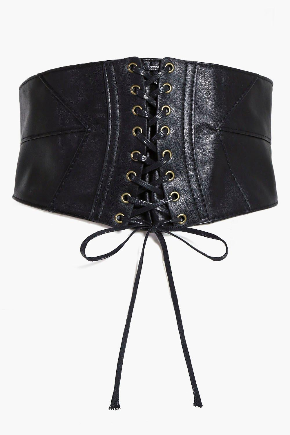Panelled Corset Belt - black - Emily Panelled Cors