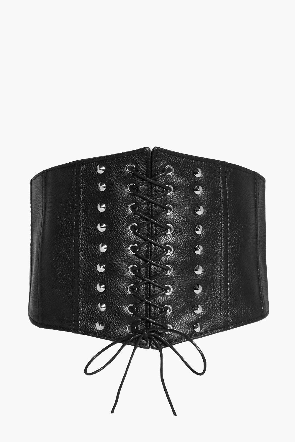 Stud & Panel Corset Belt - black - Sophie Stud & P