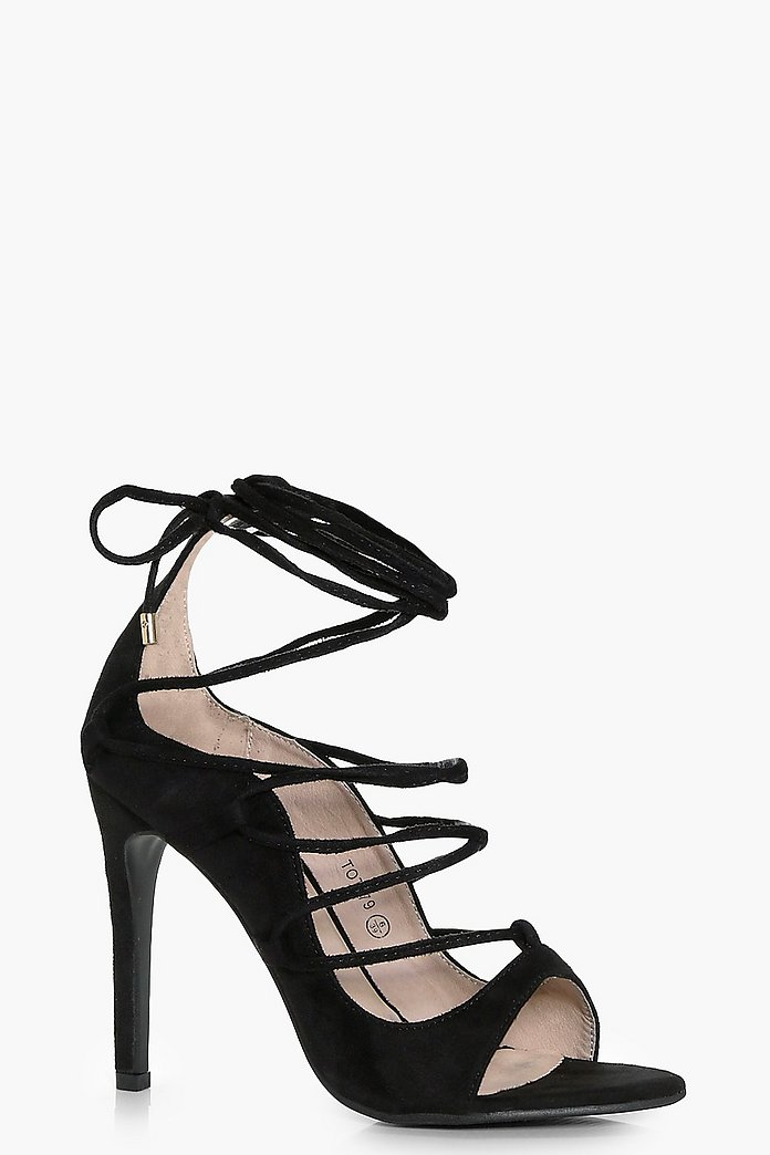 Rose Wrap Strap Detail Gladiator Heel