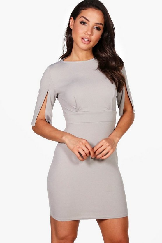 Nelly Split Sleeve Wiggle Bodycon Dress