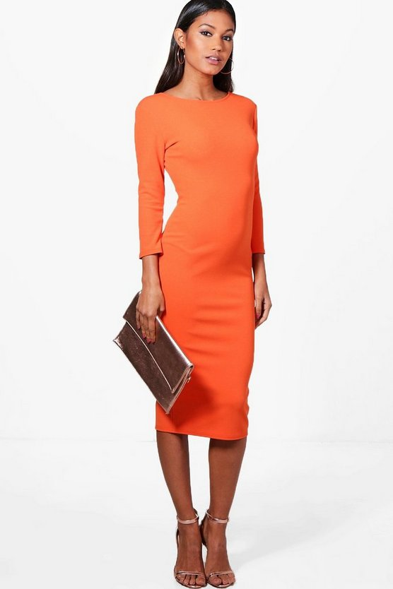 Beatrice Curve Low Back Midi Dress
