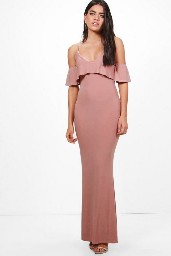 Zadya Slinky Double Layer Maxi Dress