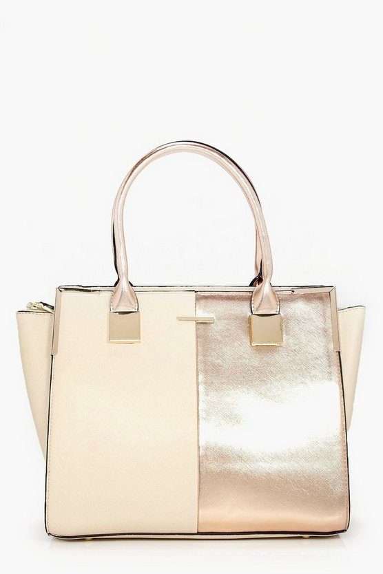 Paige Rose Panelled Structured Day Bag