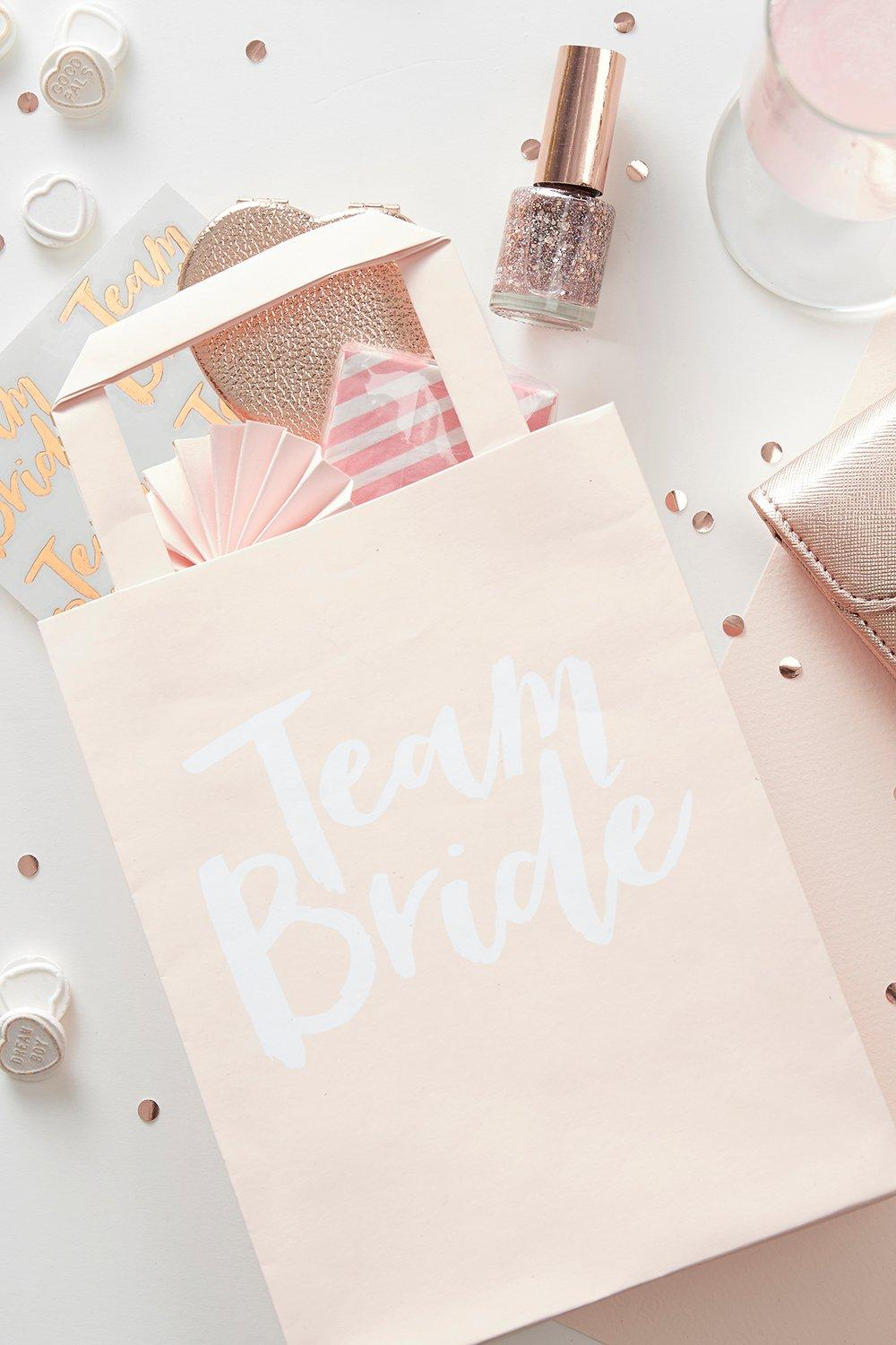 Bride Hen Party Gift Bags 5 Pack - natural - Team