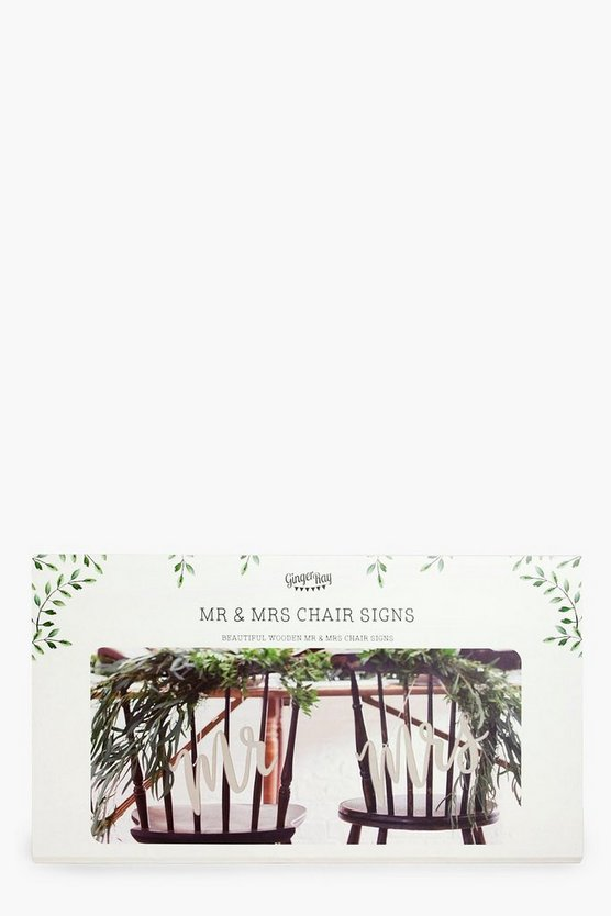 Wedding Wooden Mr & Mrs Chair Signs