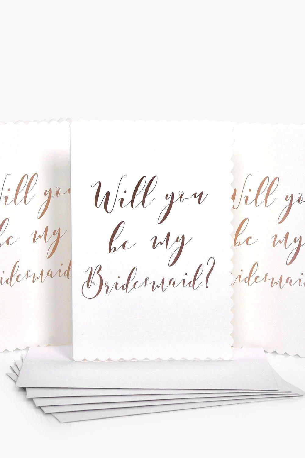 You Be My Bridesmaid Cards 5 Pack - rose gold - Wi