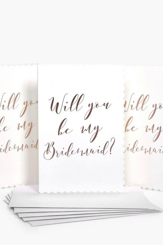 Will You Be My Bridesmaid Cards 5 Pack