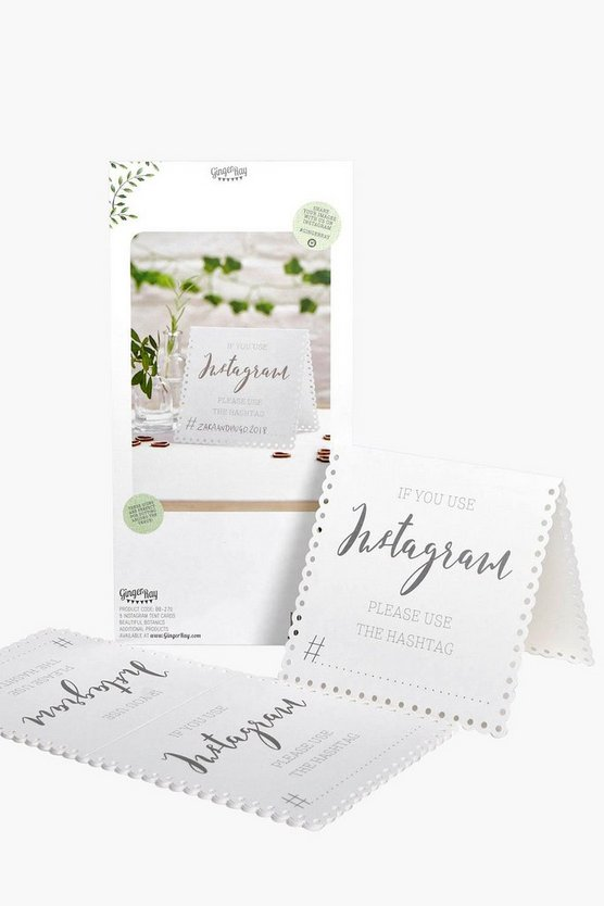 Wedding Instagram Table Card 5 Pack