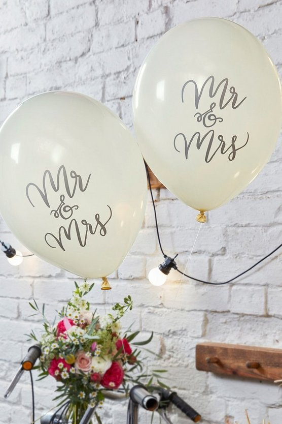 Wedding Mr & Mrs Balloon 10 Pack