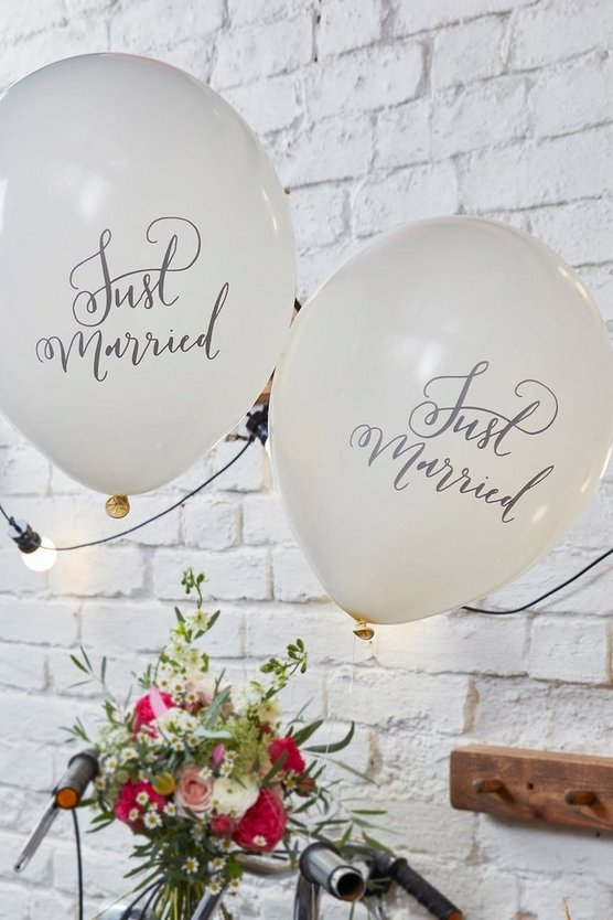 Wedding Just Married Balloon 10 Pack