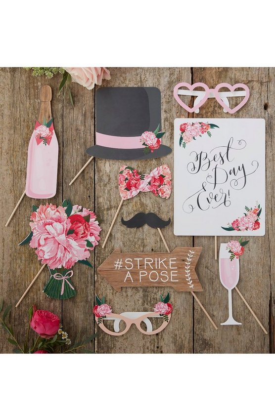 Wedding Photo Booth Selfie Props