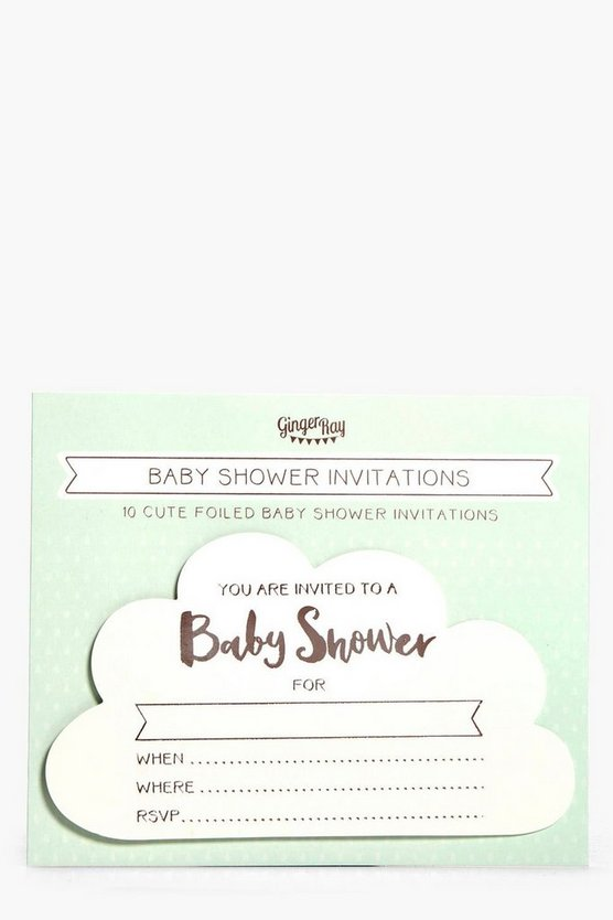 Baby Shower Hello World Invitations 10 Pack
