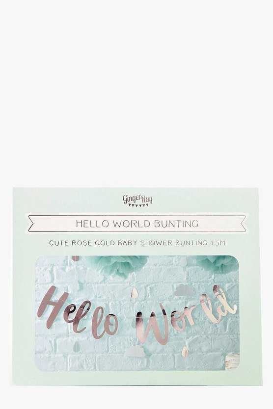 Baby Shower Hello World Bunting