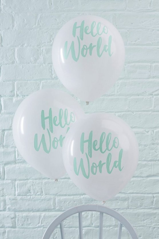 Baby Shower Hello World Balloons 10 Pack