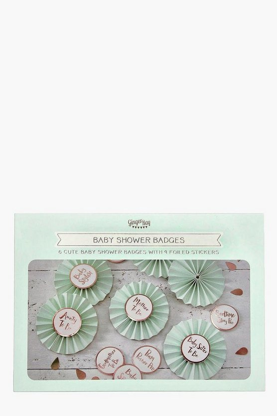 Baby Shower Hello World Rosette Badges Kit