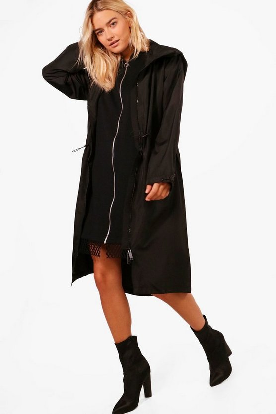 Lois Longline Zip Through Hooded Mac