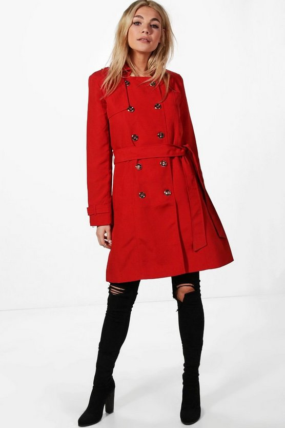Anna Belted Trench Coat