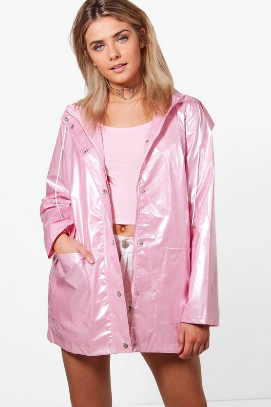 Lily Metallic Rain Coat