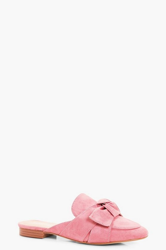 Lucy Bow Front Loafer Mule