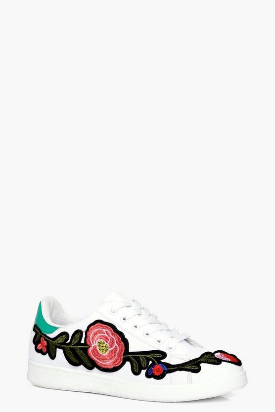 Jessica Floral Embroidered Trainer