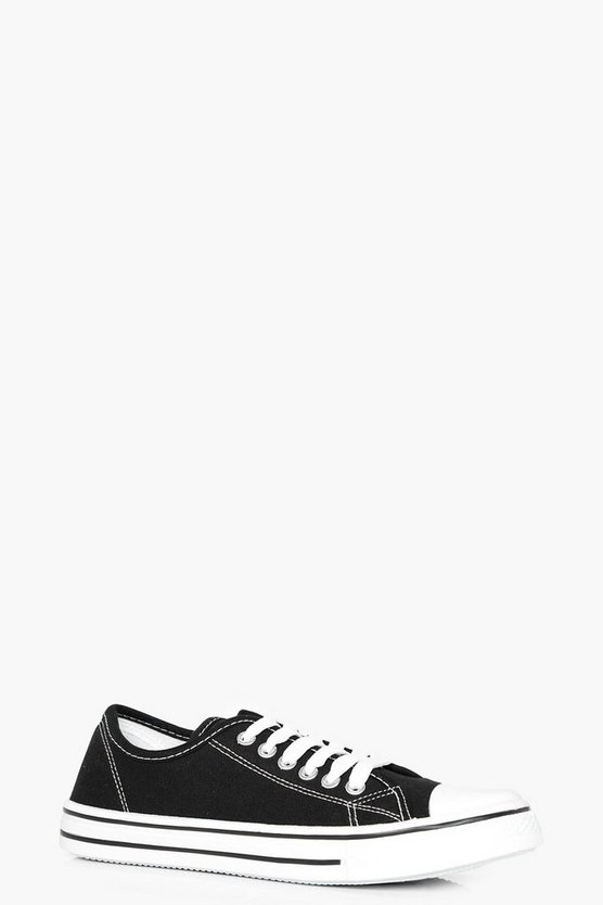 Maisie Lace Up Canvas Pump