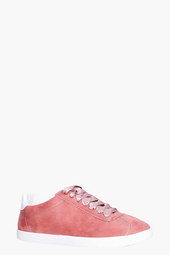 Isla Ribbon Lace Retro Trainer