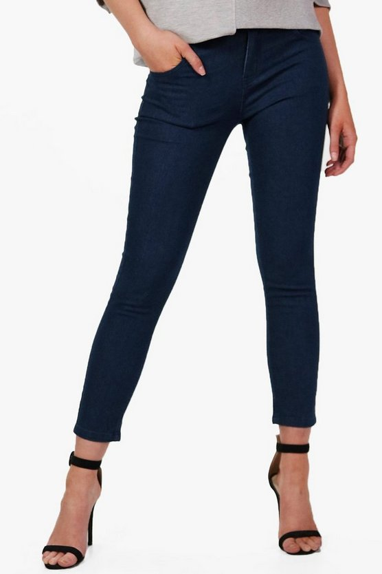 Sheila Mid Rise 5 Pocket Skinny Jeans