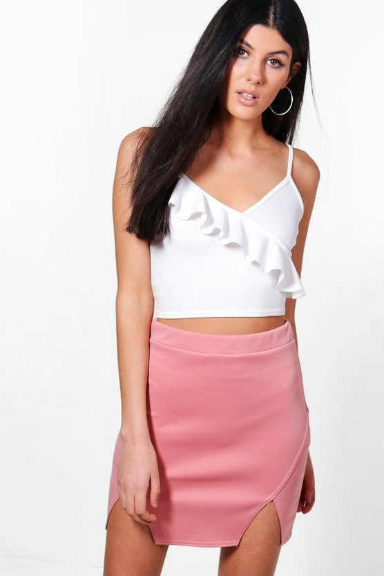 Naia Double Front Split Mini Skirt