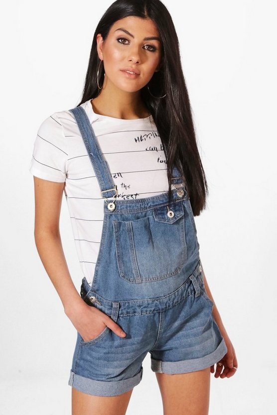 Rina Denim Dungaree Shorts