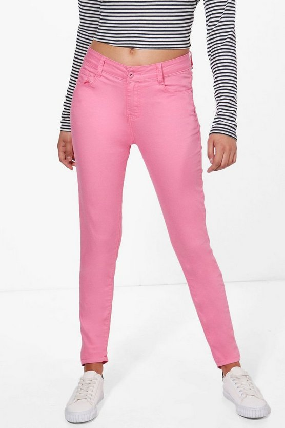 Laura Mid Rise Skinny Jeans