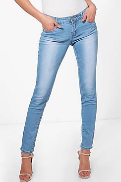 Jaclyn Light Wash 5 Pocket Skinny Jeans