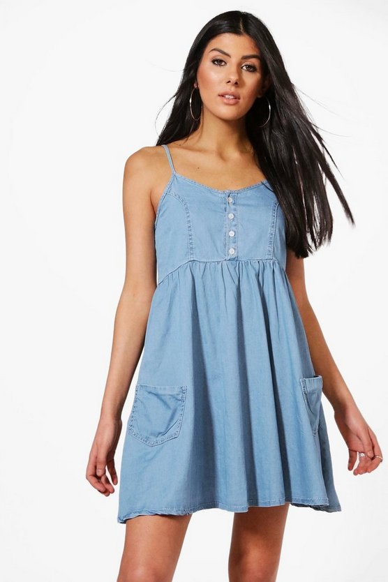 Romy Strappy Denim Sun Dress