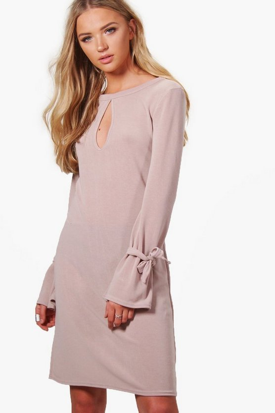 Zoe Keyhole Tie Sleeve Knitted Tunic