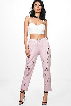 Hayley Distressed Loopback Sweat Joggers