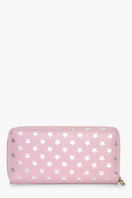 Brooke Metallic Star Print Purse