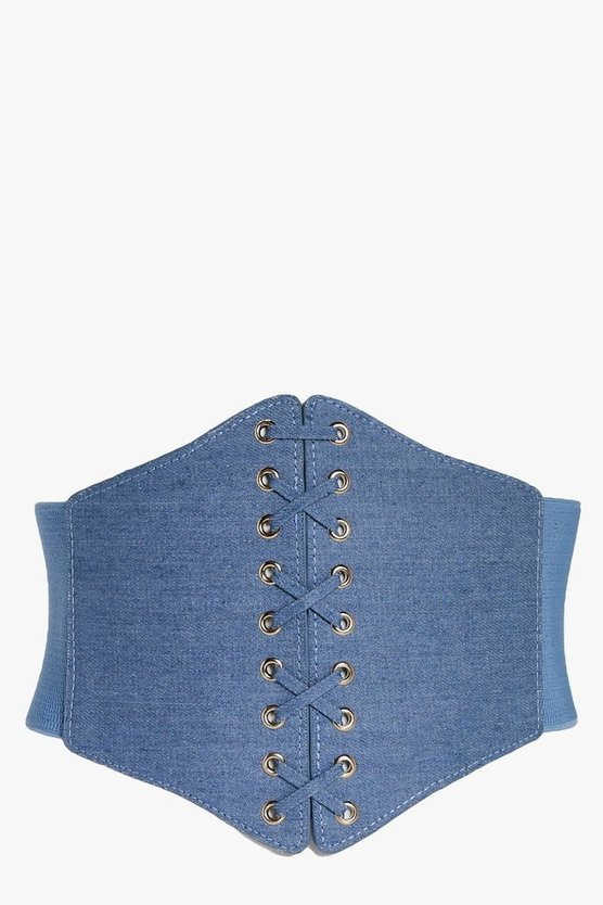 Maya Denim Corset Belt