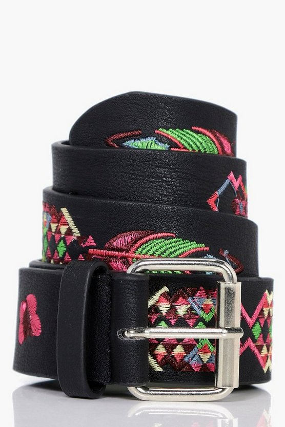 Emilia Embroidered Boyfriend Belt