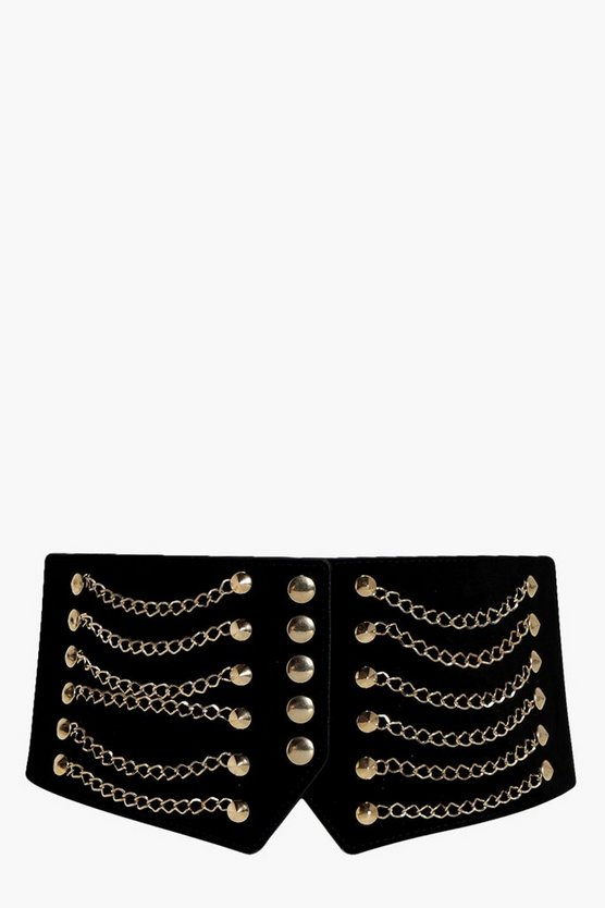 Eliza Chain And Stud Waist Belt